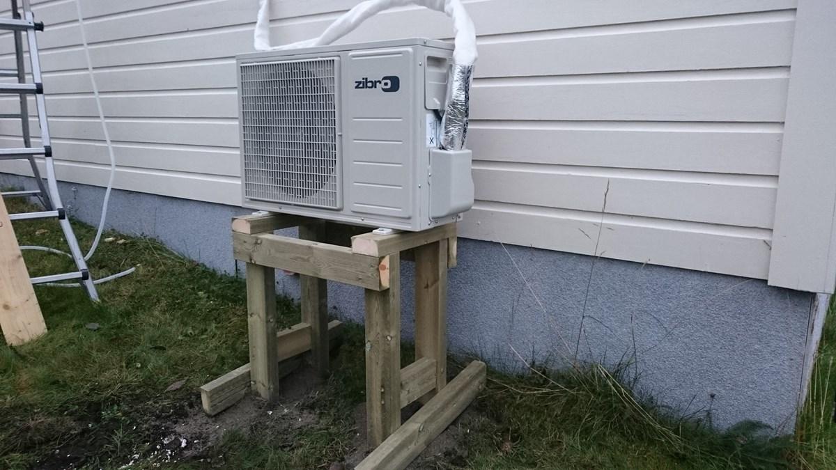 Slik monterer du en varmepumpe