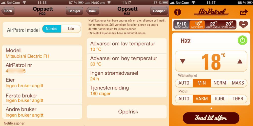 Nå kan du styre varmepumpen fra en app